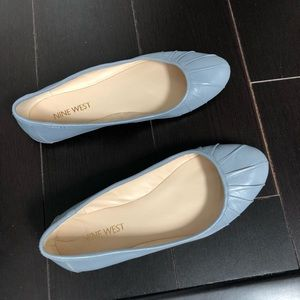 Nine West Baby Blue Pleated Flats - size 5.5